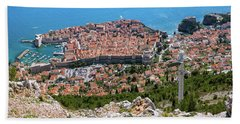 Dubrovnik Panorama From The Hill Beach Towel