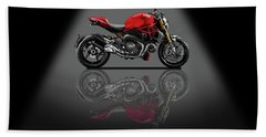 Ducati Monster 696 Spotlight Beach Towel