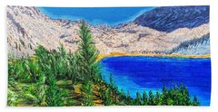 Beach Towel featuring the painting Duck Pass by Kevin Daly