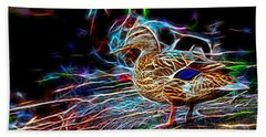 Ducks On Shore Wizard Beach Towel