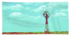 Dueling Tones Windmill Beach Towel