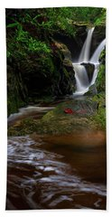 Duggers Creek Falls - Blue Ridge Parkway - North Carolina Beach Towel