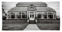Beach Towel featuring the photograph Duke Farms Conservatory by Steve Stanger