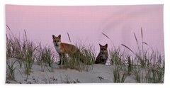 Dune Foxes Beach Towel