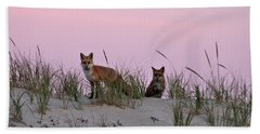 Dune Foxes Beach Towel