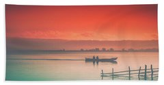 Dusk At Lake Poso  Beach Towel