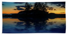 Beach Towel featuring the photograph Dusk At Lookout Point by Rick Berk