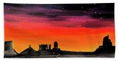 dusk in Monument Valley Beach Sheet