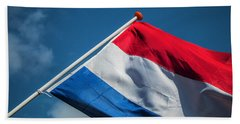 Beach Towel featuring the photograph Dutch Flag by Anjo Ten Kate
