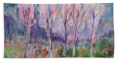 Early Morning In The Forest Beach Towel