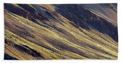 Early Morning Light On The Hillside In Sarchu Beach Towel