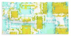 Earth And Sky Autumn Abstract Green And Blue Beach Towel