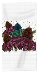 Echinacea Flower Skirts Beach Towel