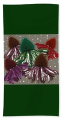 Echinacea Flowers Dance Beach Towel