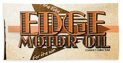 Edge Motor Oil Tin Sign Beach Towel