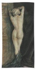 Edouard Chimot Nude In Boudoir  Beach Towel