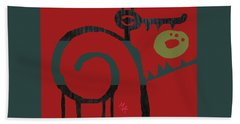 Beach Towel featuring the digital art Eggeater by Attila Meszlenyi