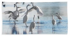 Egret Ballet 1400 Beach Towel