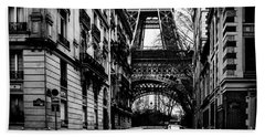 Eiffel Tower - Classic View Beach Towel