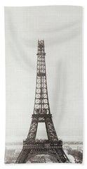Eiffel Tower, Paris, 12th February And 12th March 1889 Beach Towel