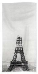 Eiffel Tower, Paris During Construction Beach Towel