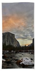 El Capitan At Sunset Beach Towel