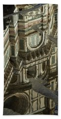 el Duomo The Florence Italy Cathedral Reflections Beach Towel