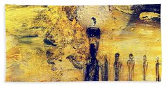 Beach Towel featuring the painting Elaine by 'REA' Gallery