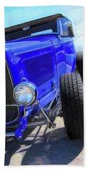 Electric Blue Hot Rod Roadster Beach Sheet
