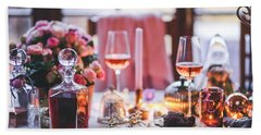 Beach Towel featuring the photograph Elegant Tablewear by Top Wallpapers