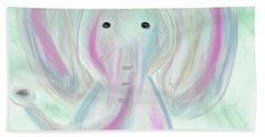 Elephant Love Beach Sheet