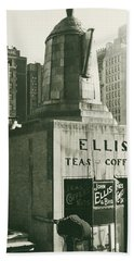 Ellis Tea And Coffee Store, 1945 Beach Towel