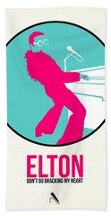 Elton Poster  Beach Towel