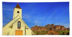 Elvis Chapel At Apacheland, Superstition Mountains Beach Towel
