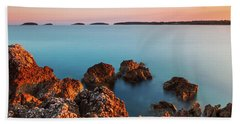 Beach Towel featuring the photograph Ember And Blue by Davor Zerjav