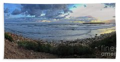Beach Towel featuring the digital art Embracing The Sea by Dee Flouton