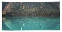 Emerald Lake Boating Beach Towel