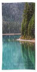 Emerald Lake Portrait Beach Towel