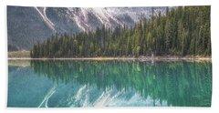Emerald Lake Reflection No 2 Beach Towel