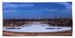 Beach Towel featuring the photograph Emerson Grand Basin At Forest Park by Robert FERD Frank