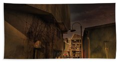Beach Towel featuring the photograph Emily Carr Alley by Juan Contreras