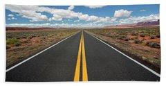 Empty Highway Beach Sheet