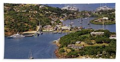 Beach Towel featuring the photograph English Harbour by Tony Murtagh