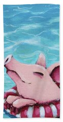 Enjoying The Water Beach Towel