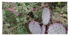 Beach Towel featuring the photograph Ensconced Prickly Pear 5 by Lynda Lehmann