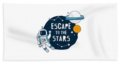 Escape To The Stars - Baby Room Nursery Art Poster Print Beach Sheet