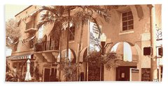Espanola Way In Miami South Beach Beach Towel