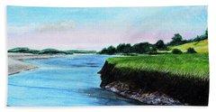 Essex River South Ipswich Beach Towel