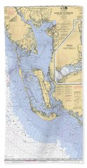 Estero Bay To Lemon Bay, Noaa Chart 11426 Beach Towel