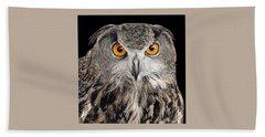 Eurasian Eagle Owl Beach Towel